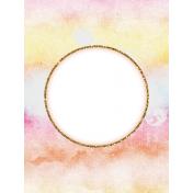 Bohemian Sunshine Rainbow 3x4 Journal Card