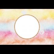 Bohemian Sunshine Rainbow 4x6 Journal Card
