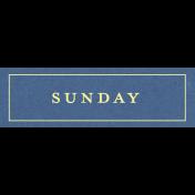 This Beautiful Life Sunday Word Art