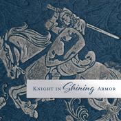 Renaissance Faire Knight in Shining Armor Journal Card 4x4