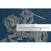 Renaissance Faire Knight in Shining Armor Journal Card 4x6