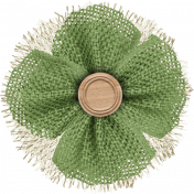 Into The Wild Burlap Flower