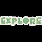 Into The Wild Explore Word Art
