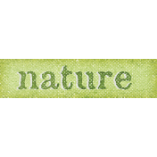 Into The Wild Nature Word Art