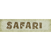 Into The Wild Safari Word Art