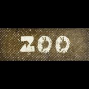 Into The Wild Zoo Word Art
