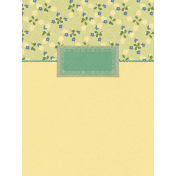 Into the Wild Floral Journal Card 3x4
