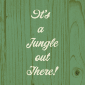 Into the Wild It's a Jungle out There Journal Card 4x4