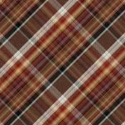 Copper Spice Plaid Paper 05