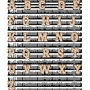 Copper Spice Alpha Letters- White
