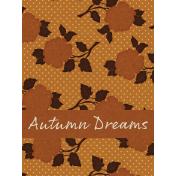Copper Spice Autumn Dreams 3x4 Journal Card
