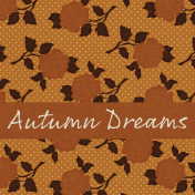 Copper Spice Autumn Dreams 4x4 Journal Card