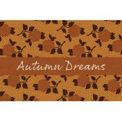 Copper Spice Autumn Dreams 4x6 Journal Card