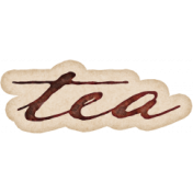 Copper Spice Tea Ink Word Art Sticker