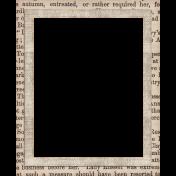Autumn Bramble Newsprint Frame
