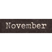 Autumn Bramble November Word Art