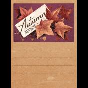 "Autumn Bramble Autumn Memories Journal Card 3""x4"""