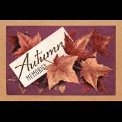"Autumn Bramble Autumn Memories Journal Card 4""x6"""