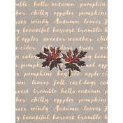 "Autumn Bramble Words Journal Card 3""x4"""