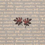 "Autumn Bramble Words Journal Card 4""x4"""