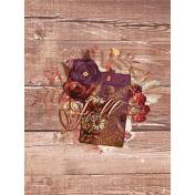 "Autumn Bramble Wood Journal Card 3""x4"""
