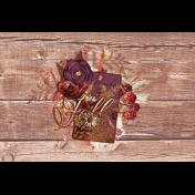 "Autumn Bramble Wood Journal Card 4""x6"""