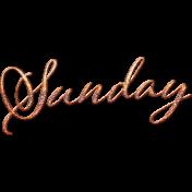 Autumn Bramble Word Art- Sunday
