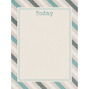 Snowhispers Today Journal Card 3x4
