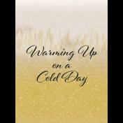 Snowhispers Warming Journal Card 3x4