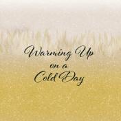 Snowhispers Warming Journal Card 4x4
