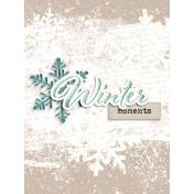 Snowhispers Winter Journal Card 3x4