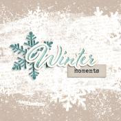 Snowhispers Winter Journal Card 4x4