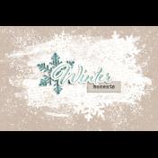 Snowhispers Winter Journal Card 4x6