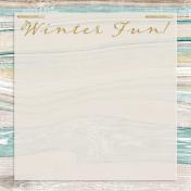 Snowhispers Winter Fun Journal Card 4x4