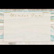 Snowhispers Winter Fun Journal Card 4x6