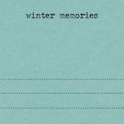 Snowhispers Winter Memories Journal Card 4x4