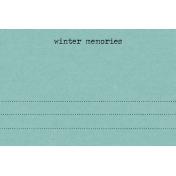Snowhispers Winter Memories Journal Card 4x6