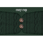 Sweaters & Hot Cocoa Cozy Cup Journal Card 4x6