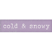 Winter Solstice Snippet Cold Snowy