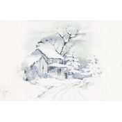 Winter Solstice Winter House 4x6 Journal Card