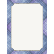 Winter Solstice Plaid 3x4 Journal Card
