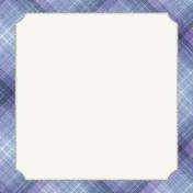 Winter Solstice Plaid 4x4 Journal Card