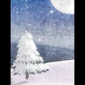 Winter Solstice Winterscape 3x4 Journal Card