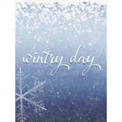 Winter Solstice Wintry Day 3x4 Journal Card