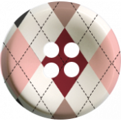 Sweaters & Hot Cocoa Argyle Button