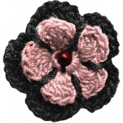 Sweaters & Hot Cocoa Crochet Flower