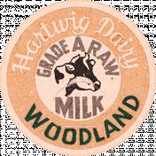 Sweaters & Hot Cocoa Milk Label