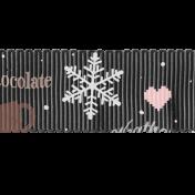 Sweaters & Hot Cocoa Gray Ribbon