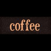 Sweaters & Hot Cocoa Coffee Word Art