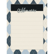 Blue Reflections Memories Journal Card